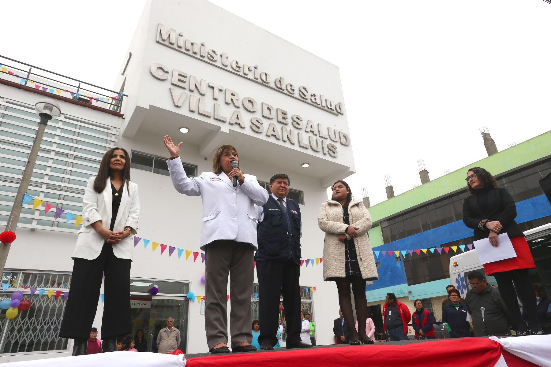 "20/09/2019   Ministra de Salud Zulema Tomas,inaugura centro de salud""Vila San Luis"",en San Juan de Mirafrores.Foto:ANDINA:Héctor Vinces"