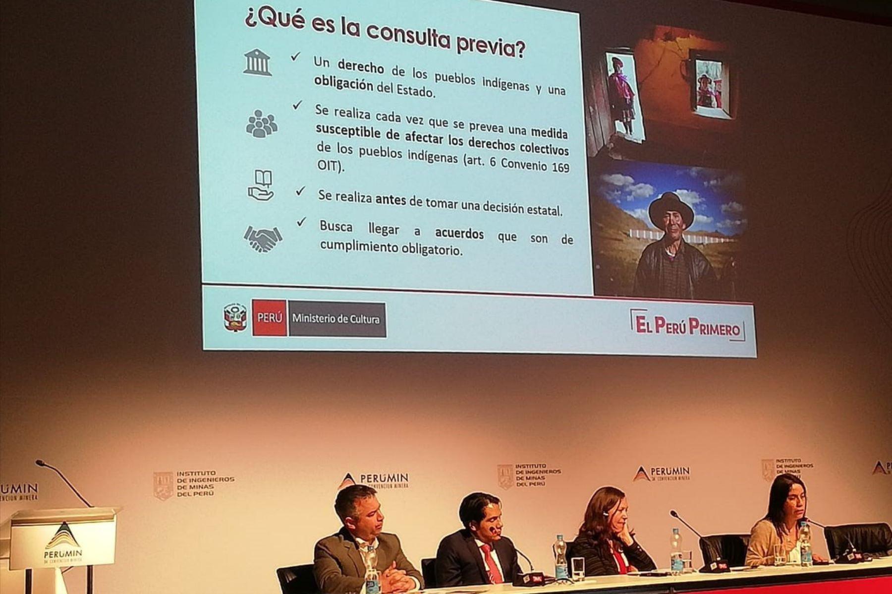 ANDINA/DifusiónLa consulta previa es la oportunidad de nueva relación entre Estado y pueblos indígenas, afirma el Ministerio de Cultura. ANDINA/Difusión
