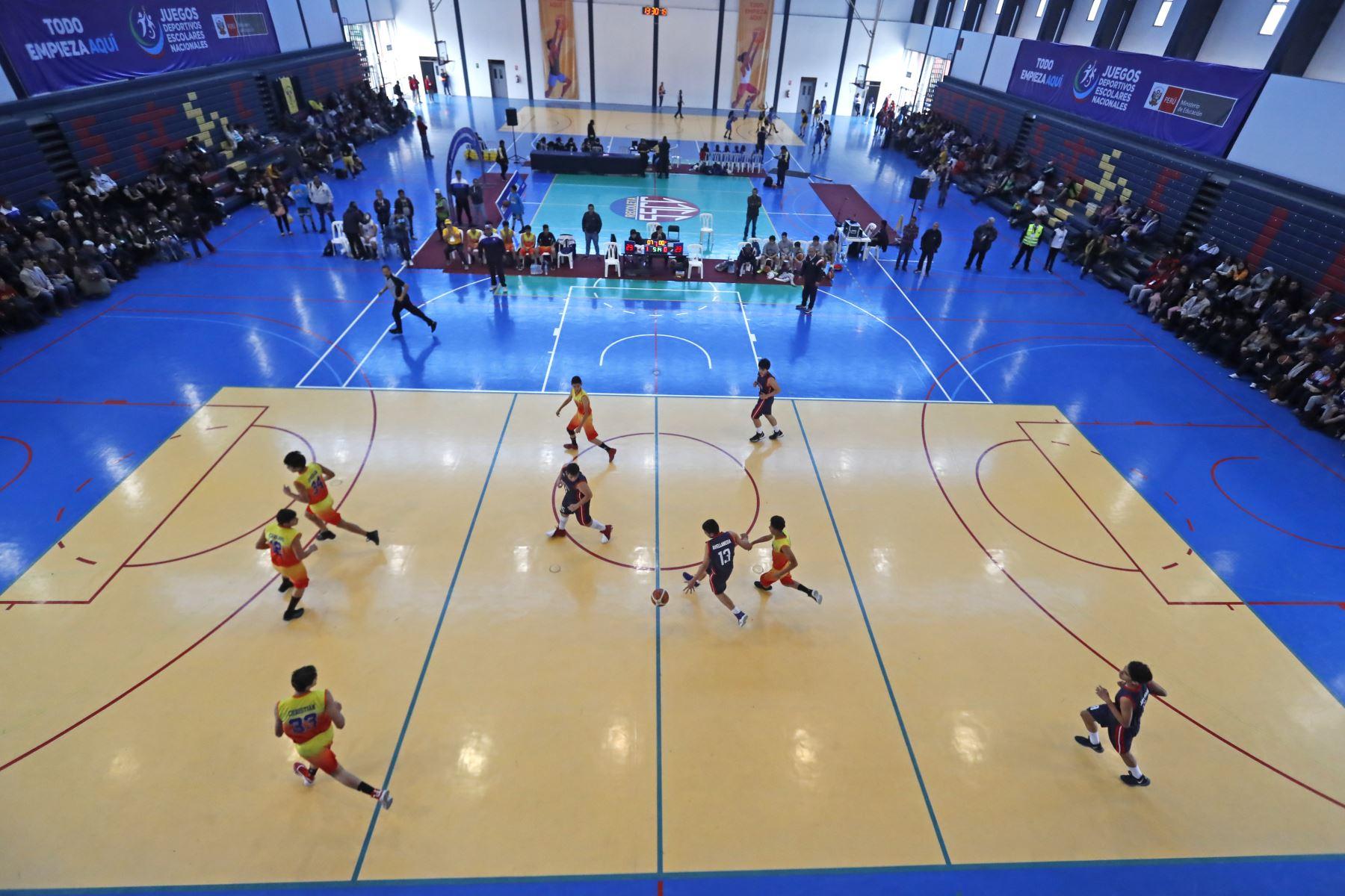 Colegio La Recoleta de Lima se enfrentó con el Colegio Von Neumann en la final de los Juegos Deportivos Escolares Nacionales 2019, sede La Recoleta. Foto: ANDINA/Renato Pajuelo