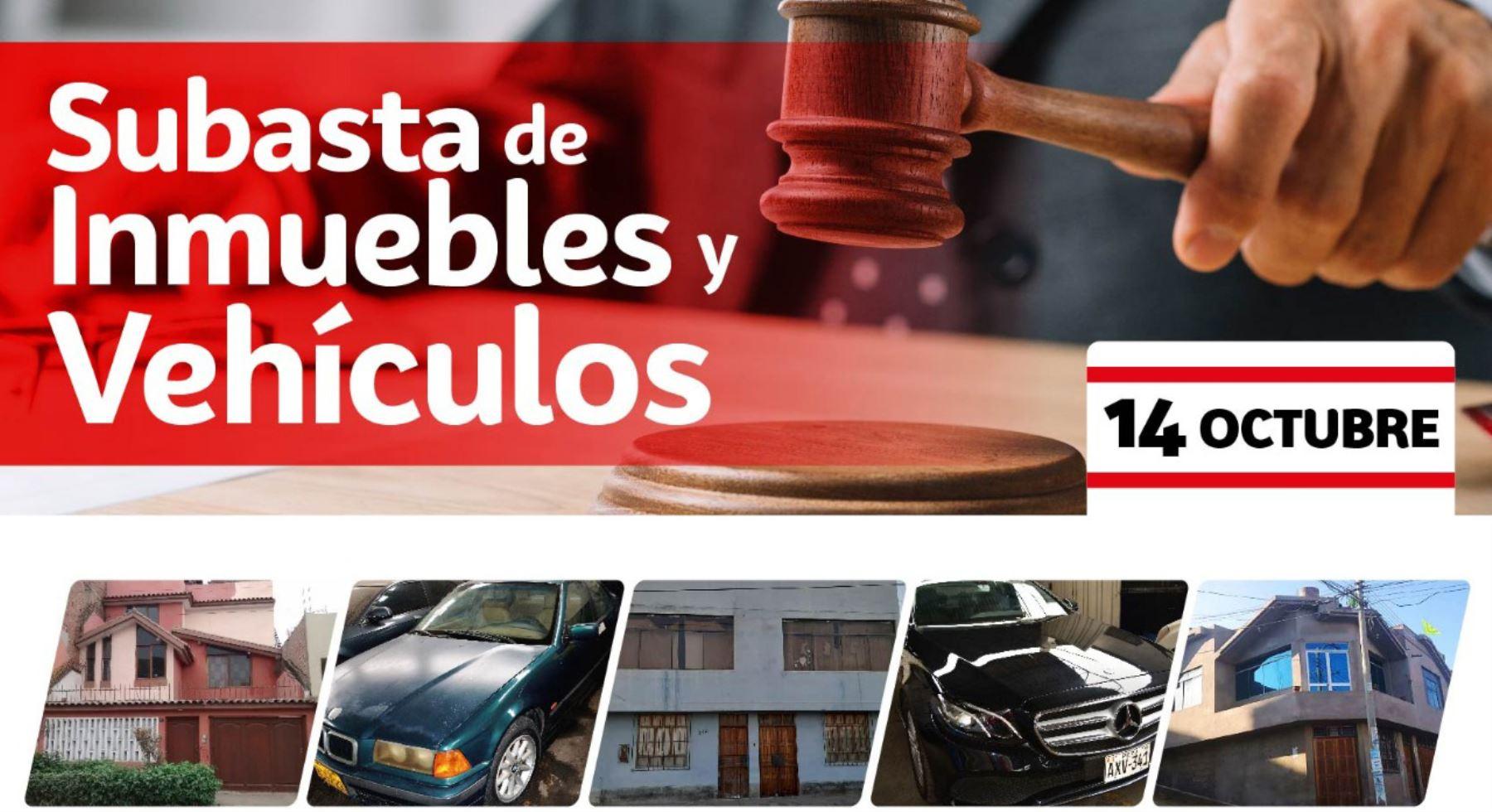 Pronabi subasta imnuebles y vehículos incautados por casos de terrorismo, narcotráfico y corrupción.