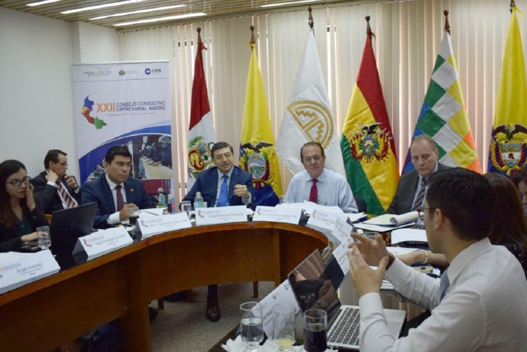 XXII Consejo Consultivo Empresarial Andino, en Santa Cruz, Bolivia. Foto: Cortesía.