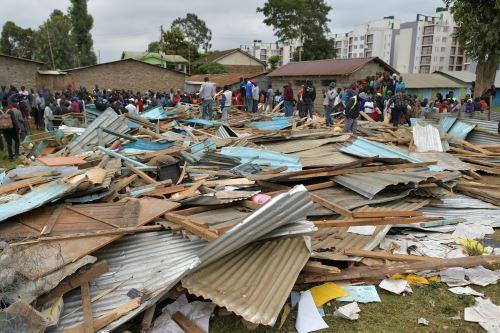 Derrumbe de escuela deja al menos 7 niños muertos y 57 heridos en Nairobi