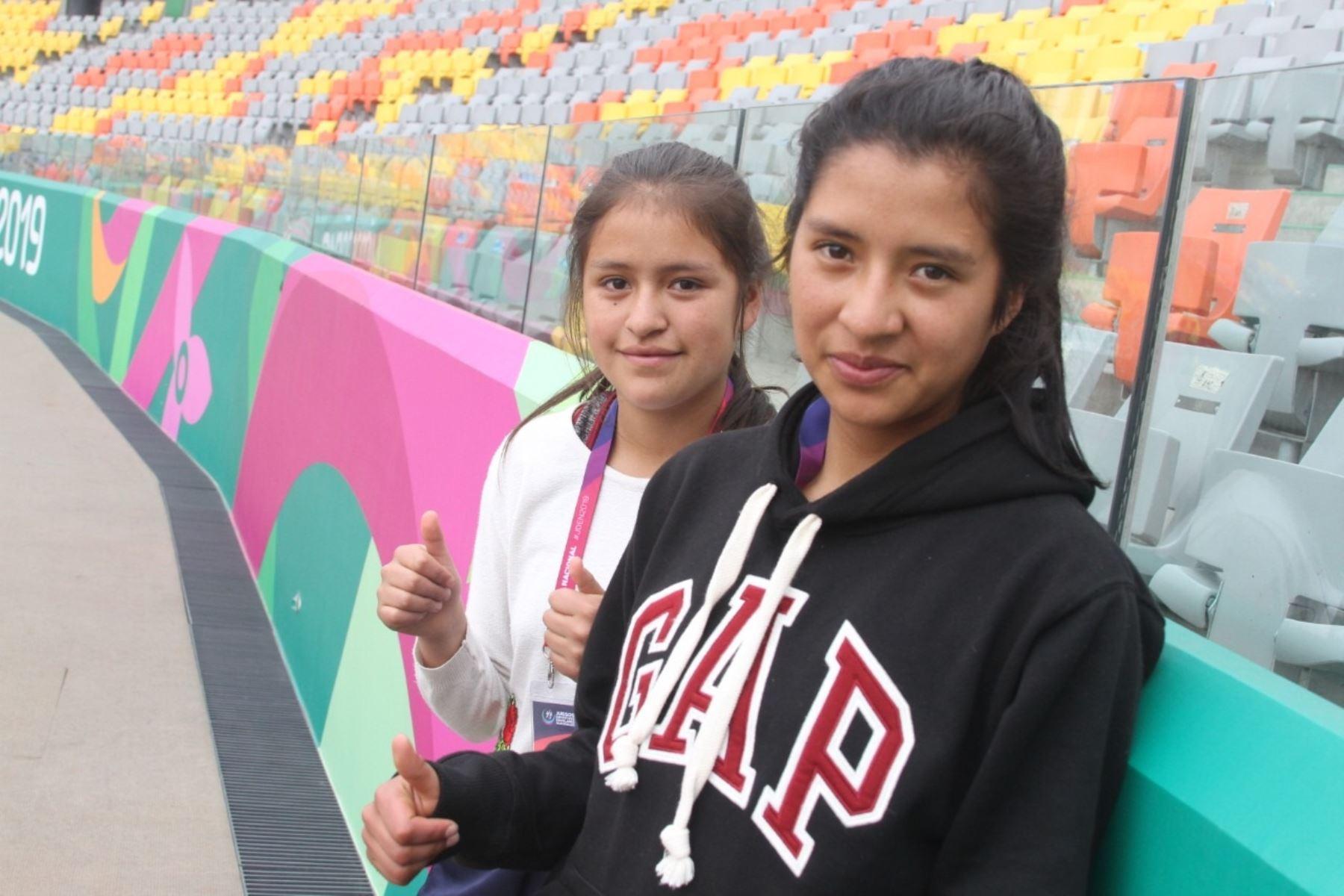 Lucero Choca Santiago y Jazmín Pérez Zamudio son las nuevas figura del medio fondo peruano