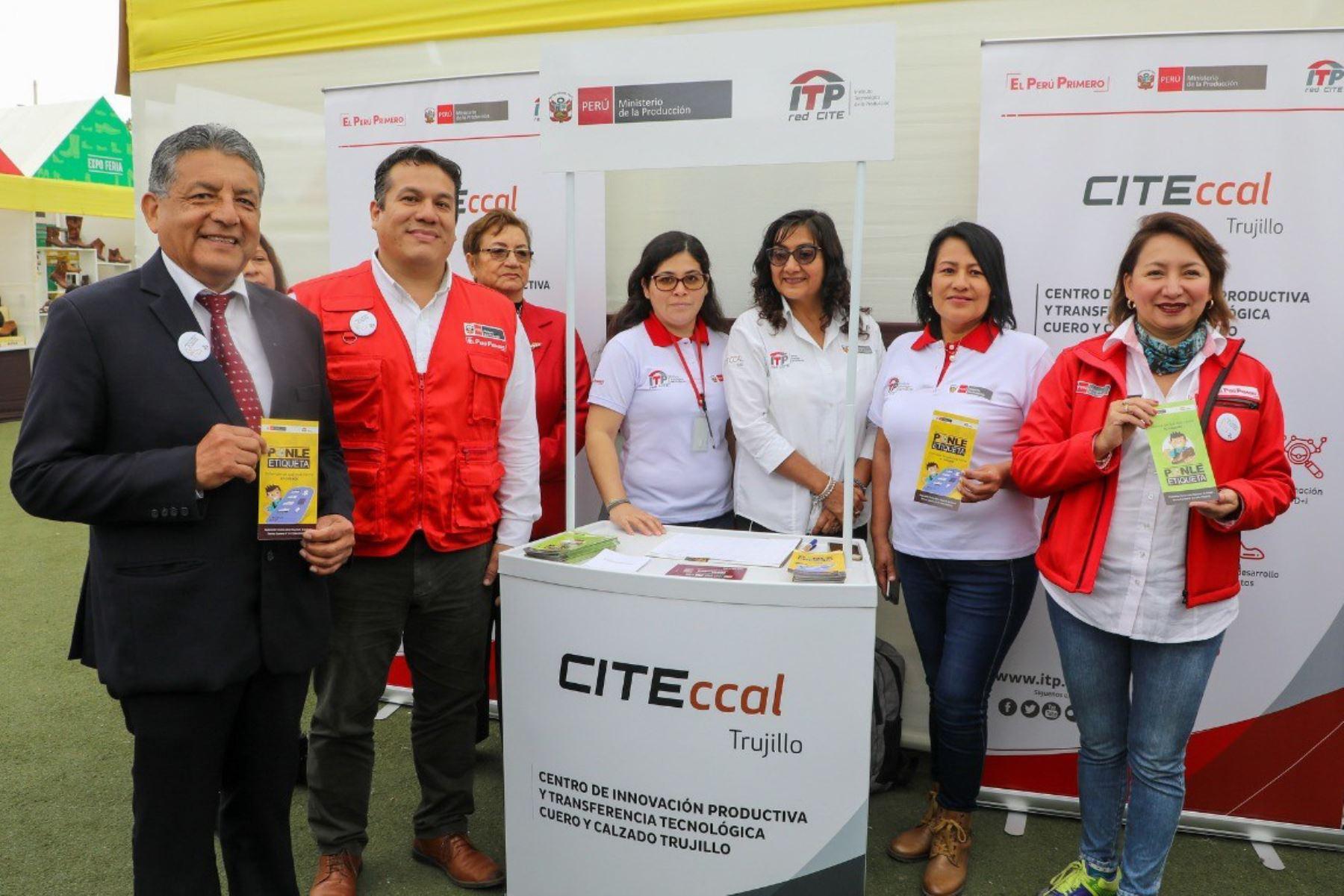 Empresas asistidas por CITEccal Trujillo participan en Feria Nacional de Calzado