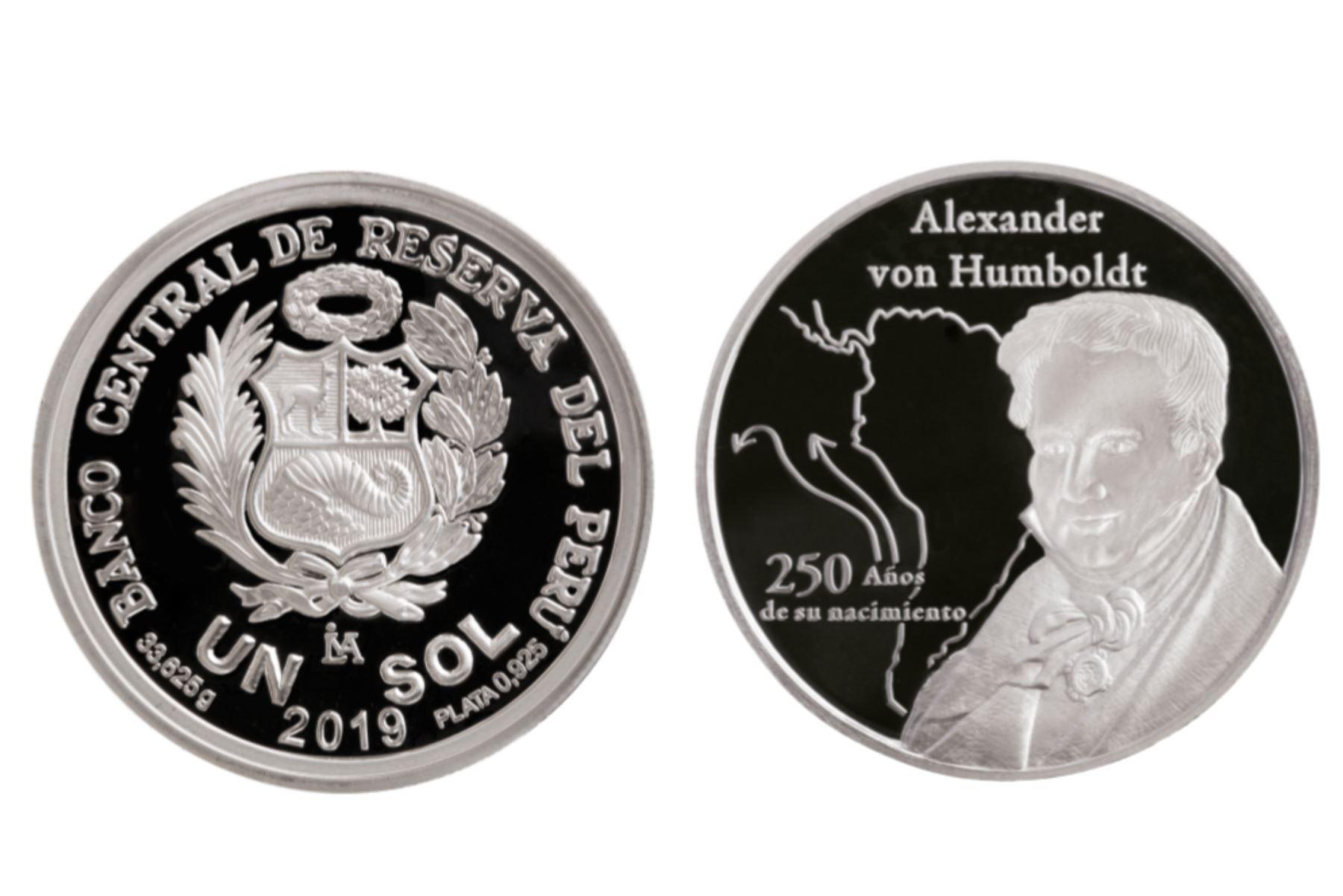 BCR lanza moneda alusiva a los 250 años del natalicio de Alexander von Humboldt