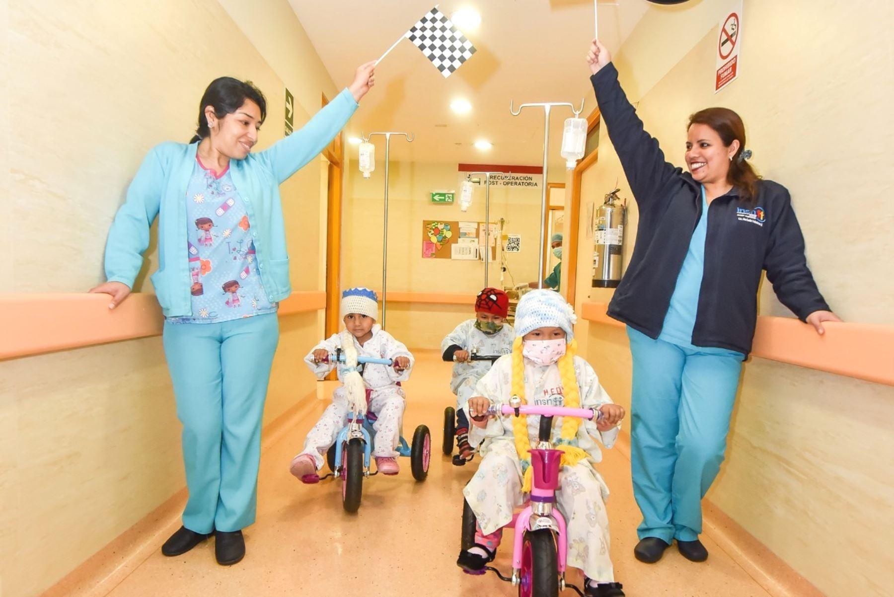 INSN de San Borja impulsa tratamiento médico con entretenimiento. Foto: ANDINA/Difusión.