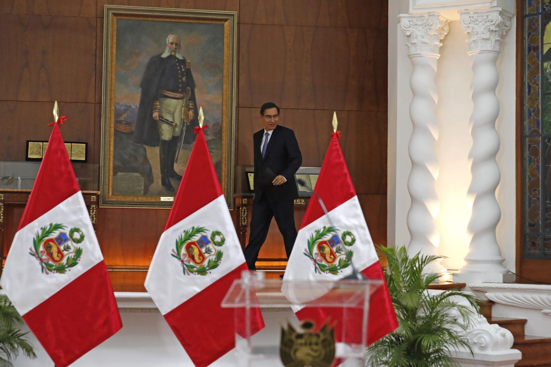 Mensaje a la Nación del presidente de la República, Martín Vizcarra. Foto: ANDINA/ Renato Pajuelo