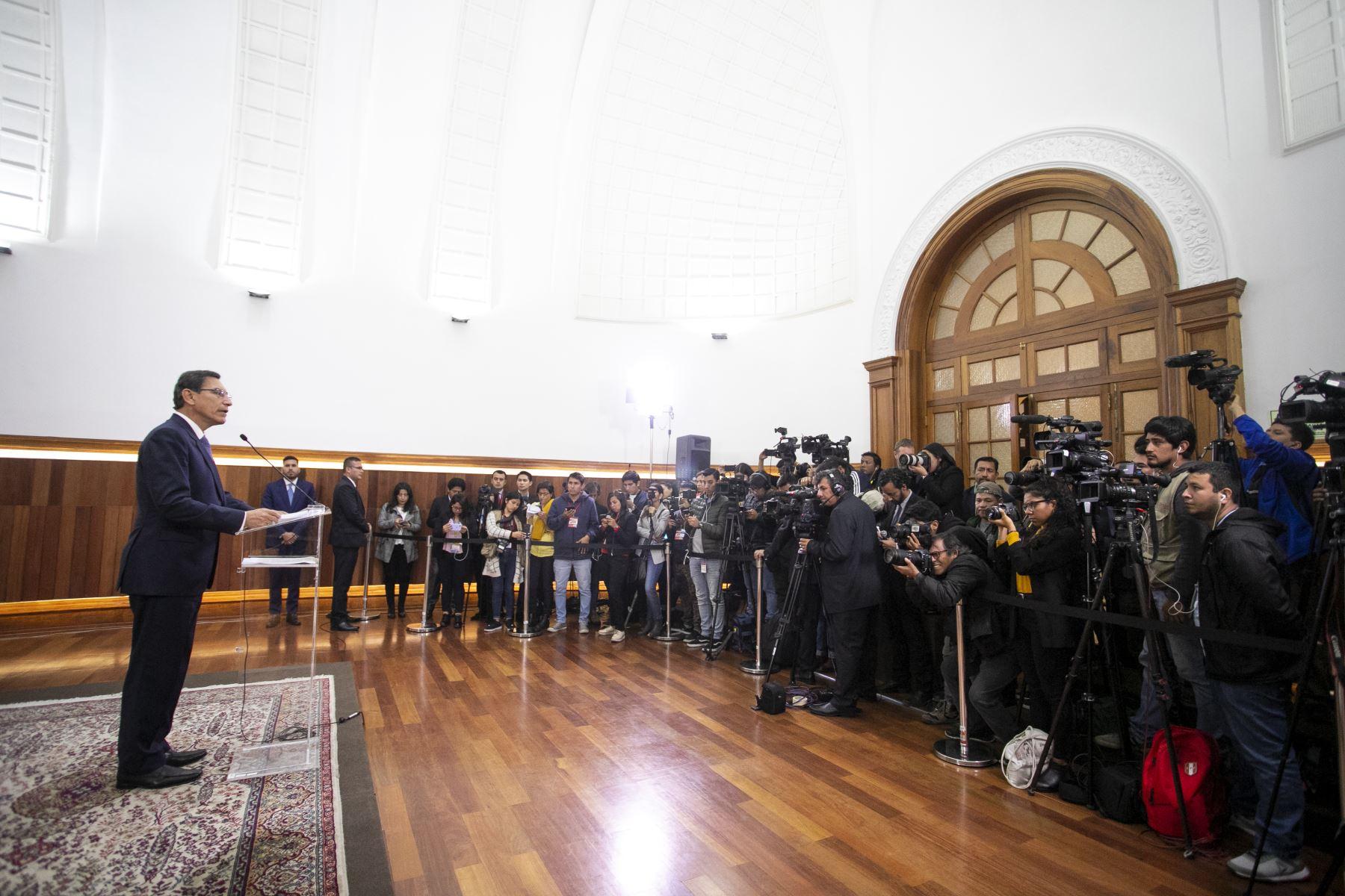 Mensaje a la Nación del presidente de la República, Martín Vizcarra. Foto: ANDINA/ Prensa Presidencia