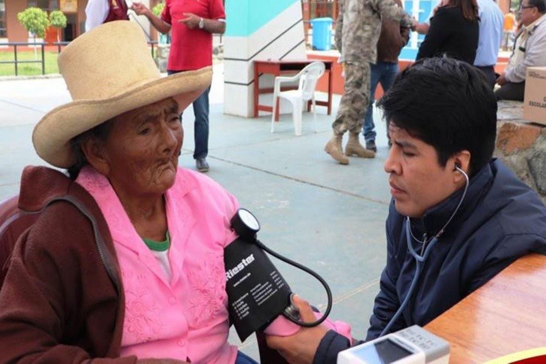Marina de Guerra organizó campaña de salud que  benefició a pobladores de distrito ancashino de Moro. ANDINA/Difusión