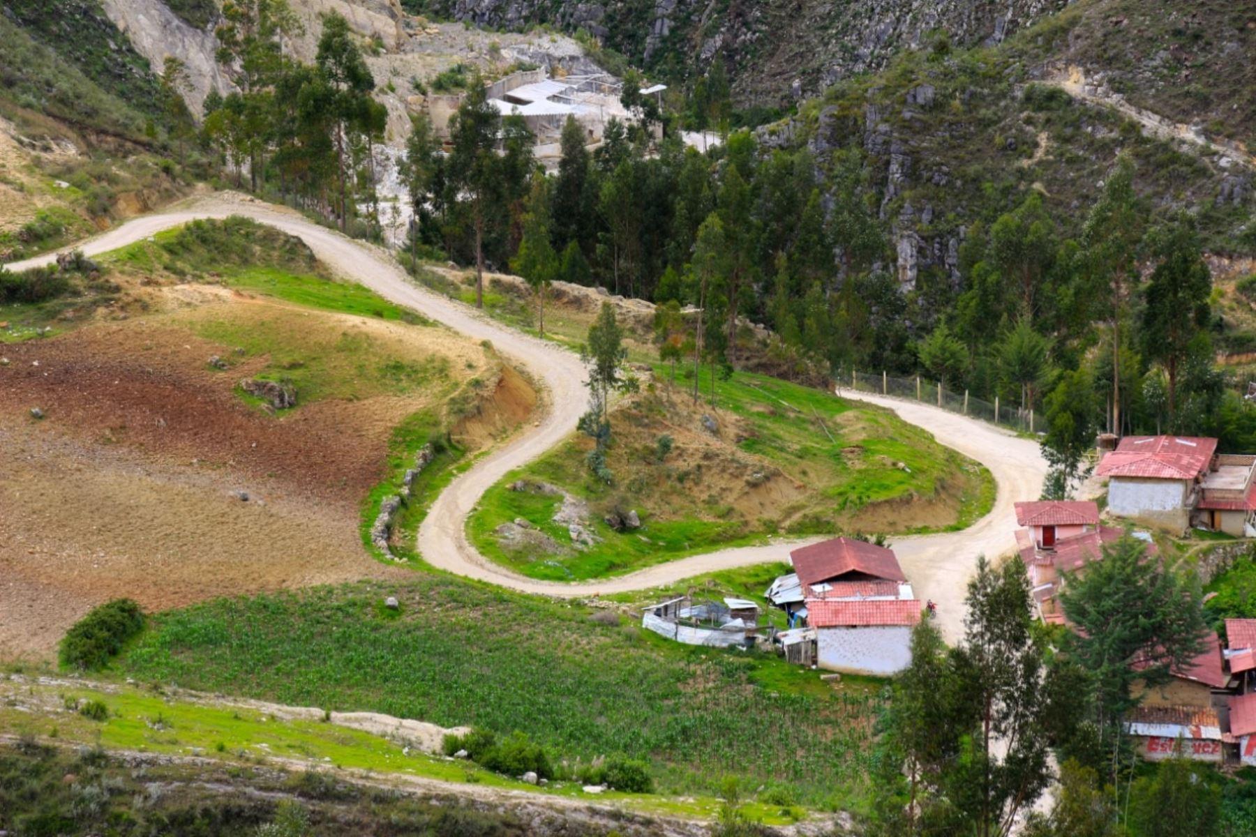 Carretera San Marcos-Cajabamba. Foto: Cortesía.