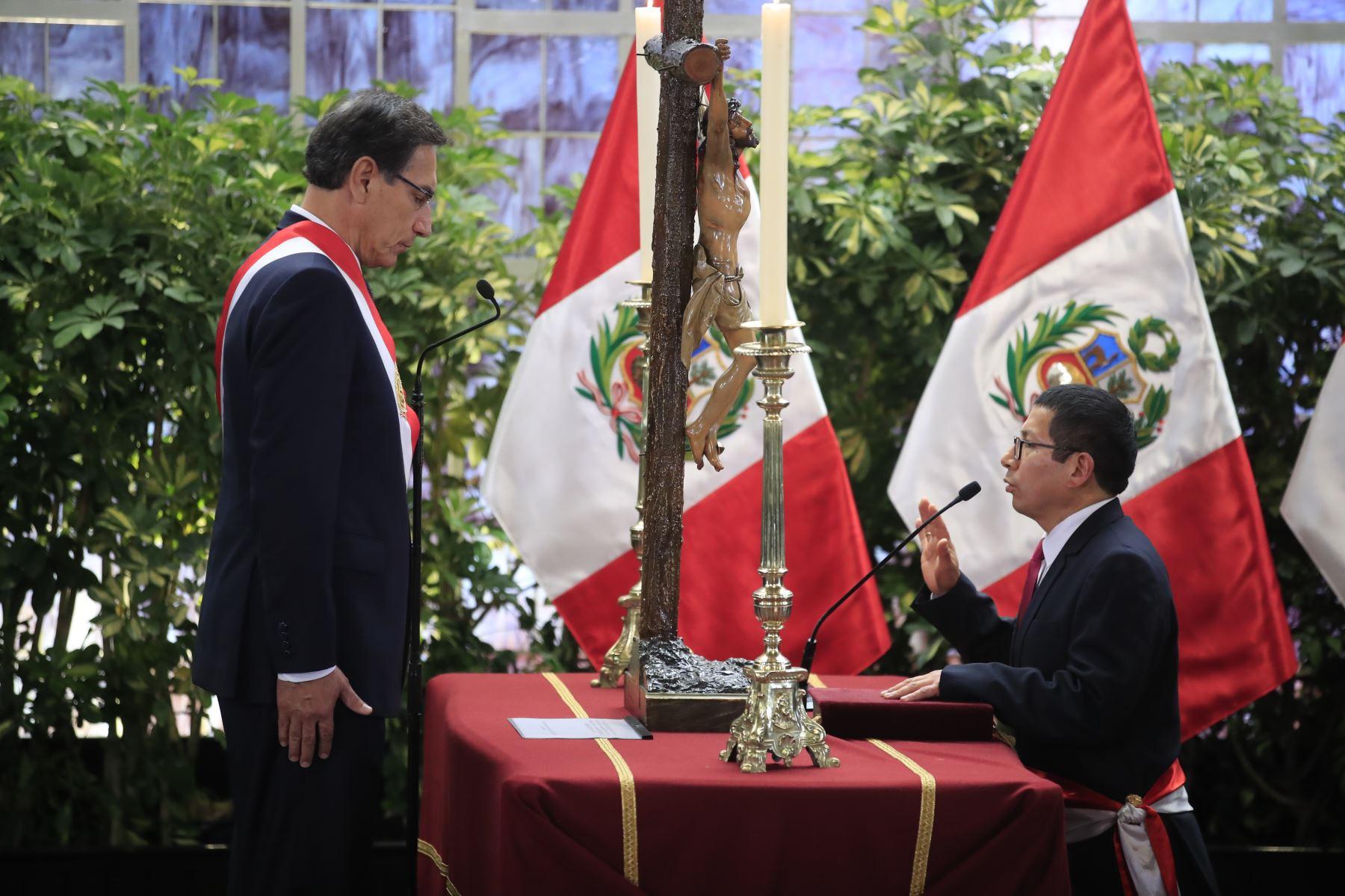 Edmer Trujillo, ministro de Transportes y Comunicaciones. Foto:ANDINA/Juan Carlos Guzmán.