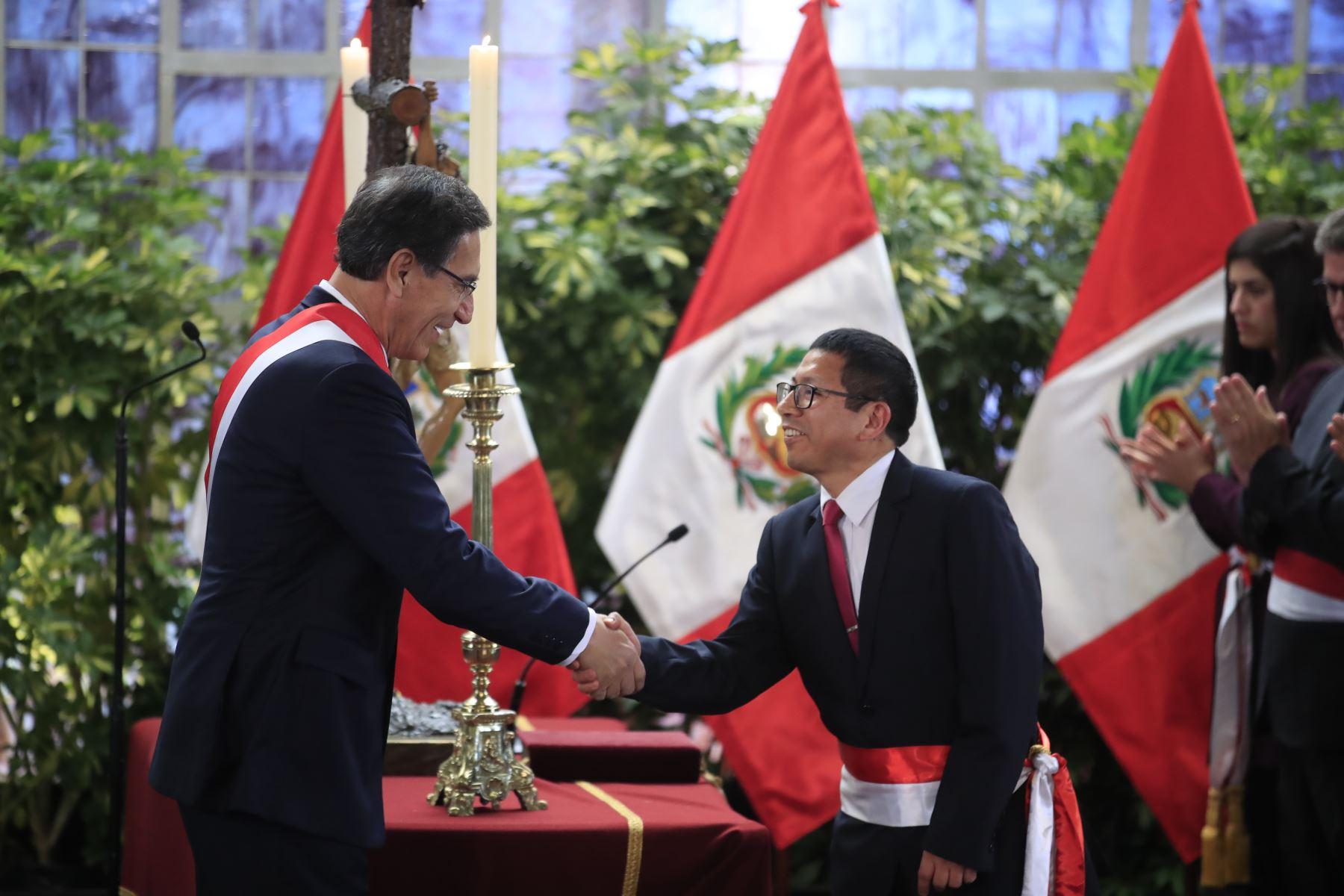 Edmer Trujillo, ministro de Transportes y Comunicaciones. Foto:ANDINA/Juan Carlos Guzmán