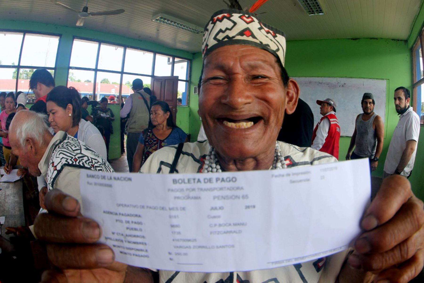Los beneficiarios reciben 250 soles cada dos meses, así como una serie de servicios complementarios orientados a mejorar su calidad de vida. Foto: ANDINA/Difusión