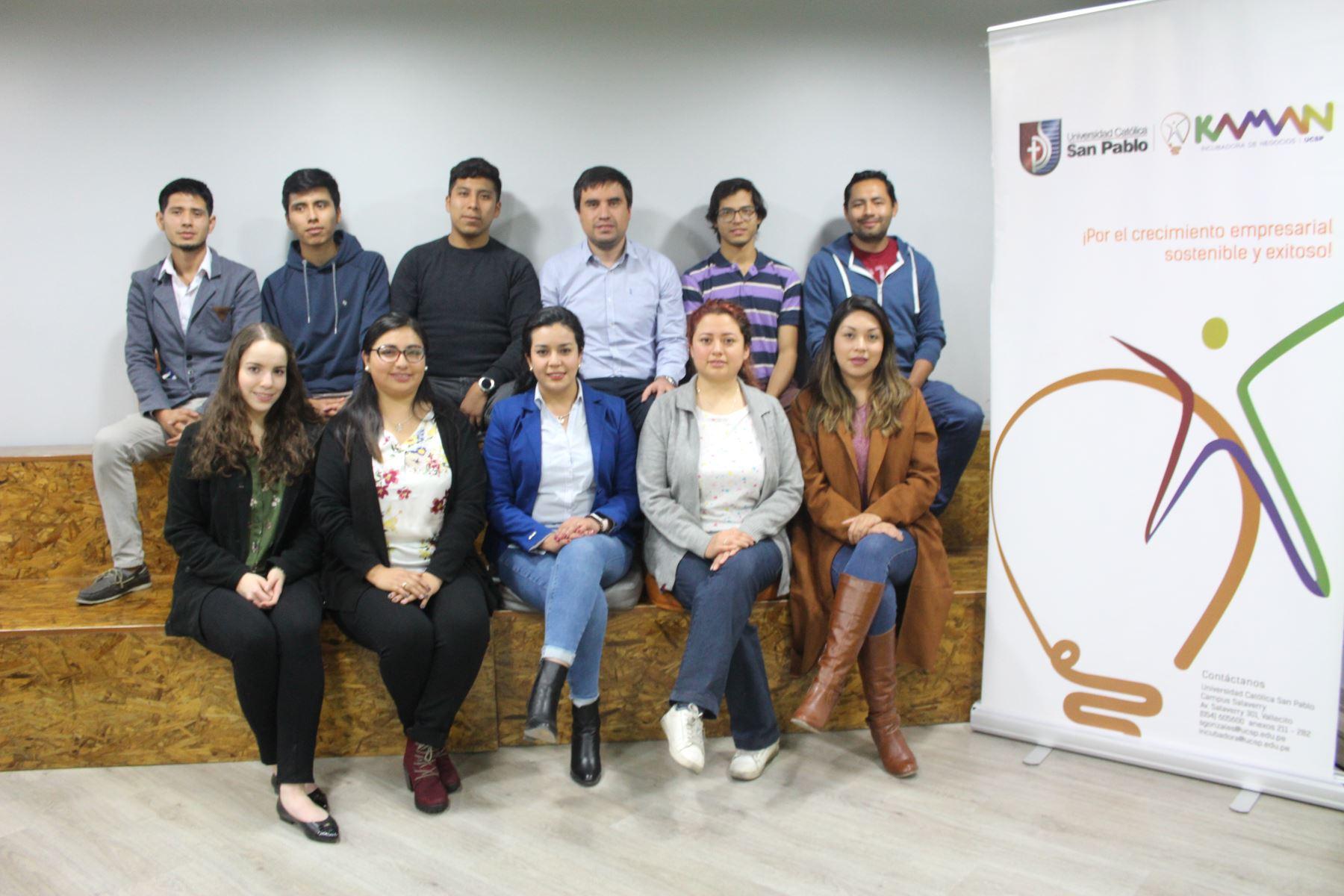 StartUp Perú 2019 premia a cinco proyectos innovadores elaborados por estudiantes de Arequipa.