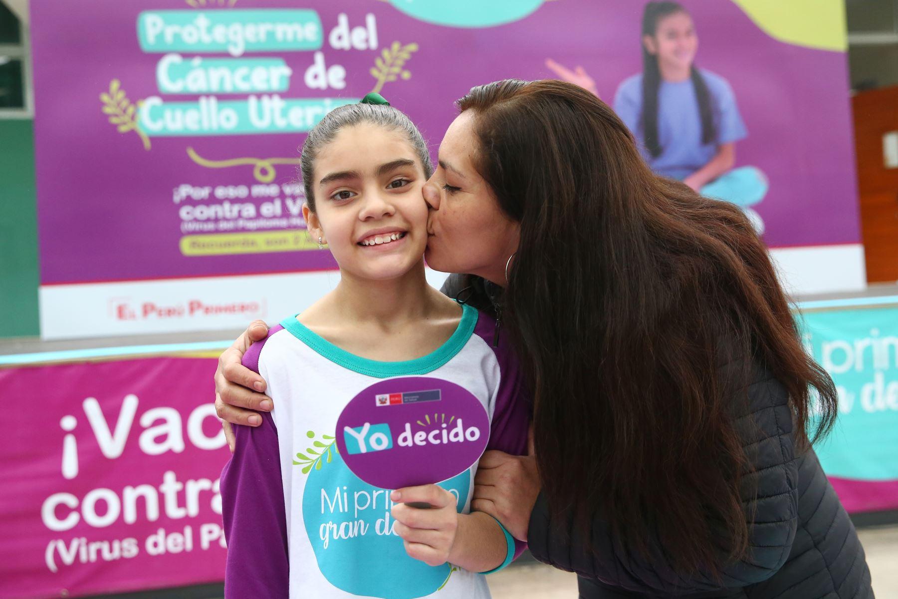 La Vacuna del Papiloma Humano, previene el cáncer de cuello uterino.  Foto: ANDINA/Melina Mejía