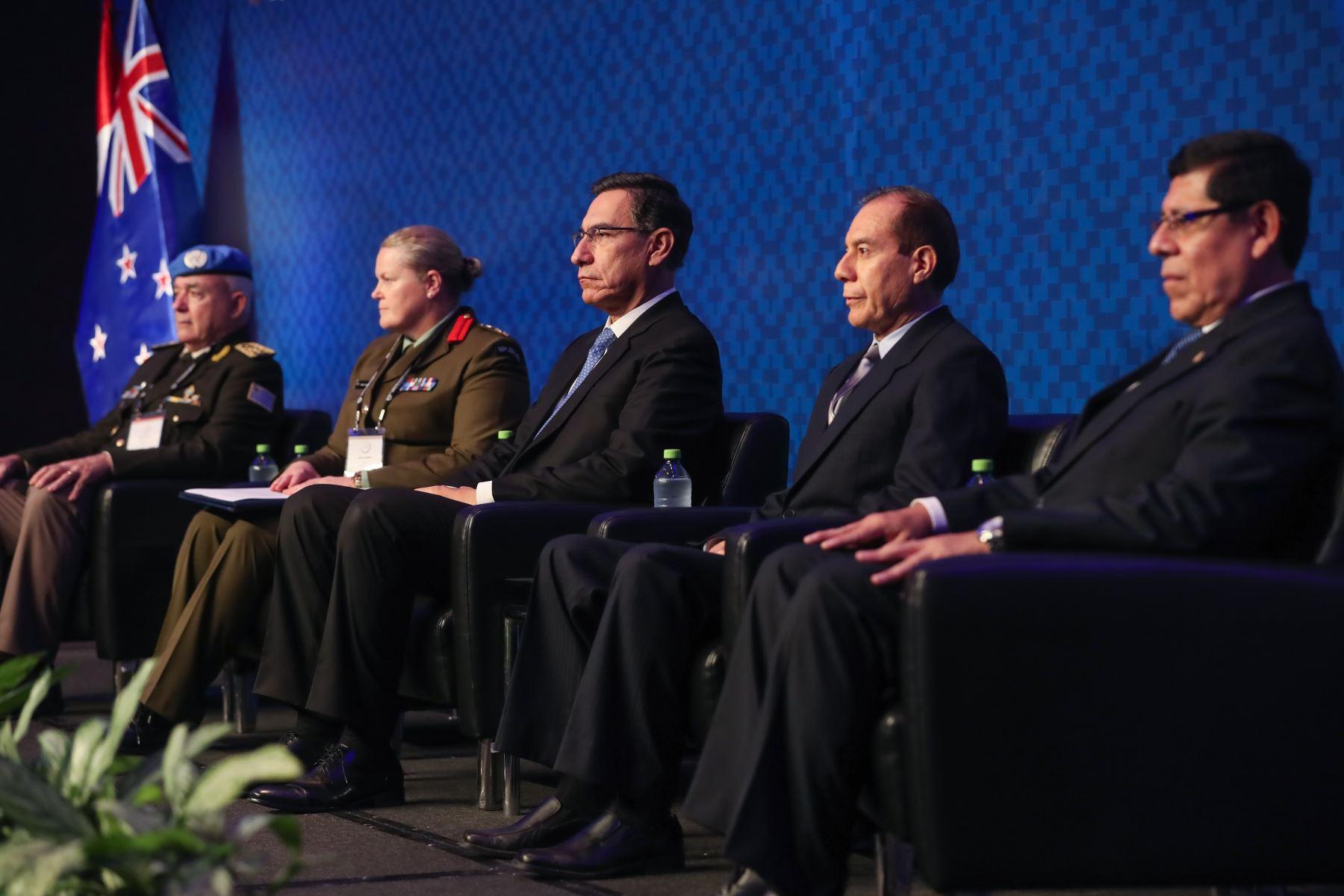 El Presidente Martin Vizcarra, participa en la 25° Conferencia Anual de la Asociación Internacional de Centros de Entrenamiento para el Mantenimiento de la Paz -IAPTC Lima 2019. Foto: MINDEF