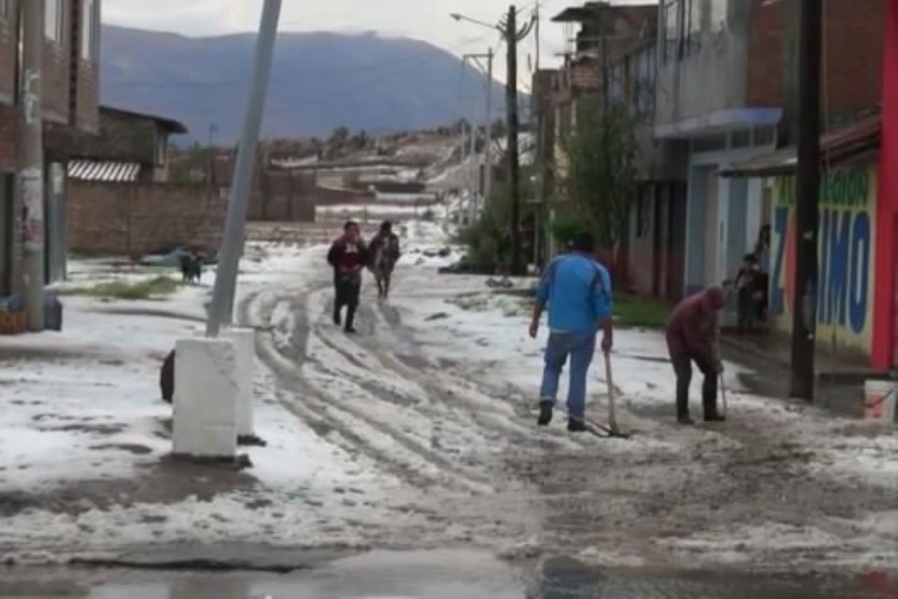 Sierra norte y centro soporta lluvias intensas y granizadas desde hoy hasta el martes 22 de octubre, pronosticó el Senamhi. . Andina/Archivo