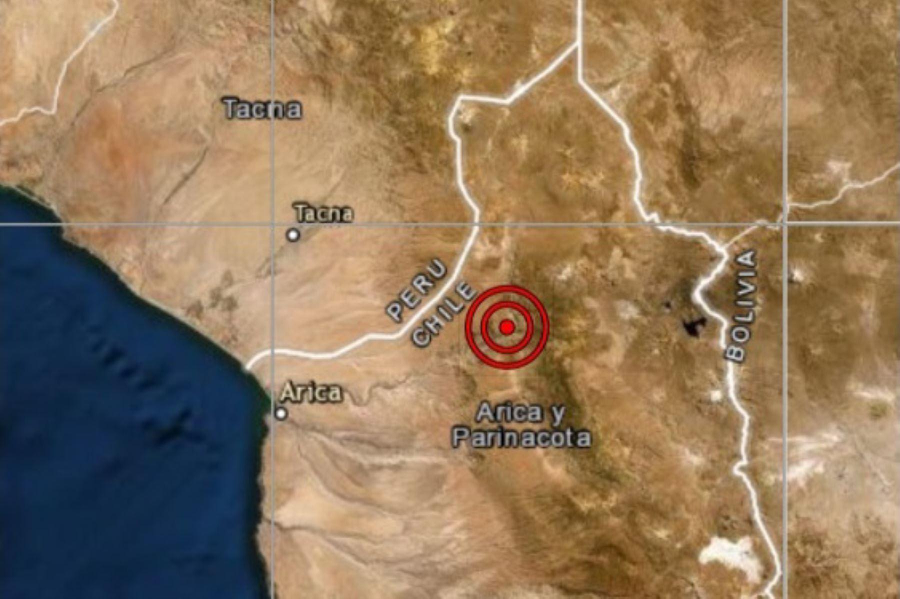 Sismo de magnitud 4.7 remeció Tacna esta madrugada.