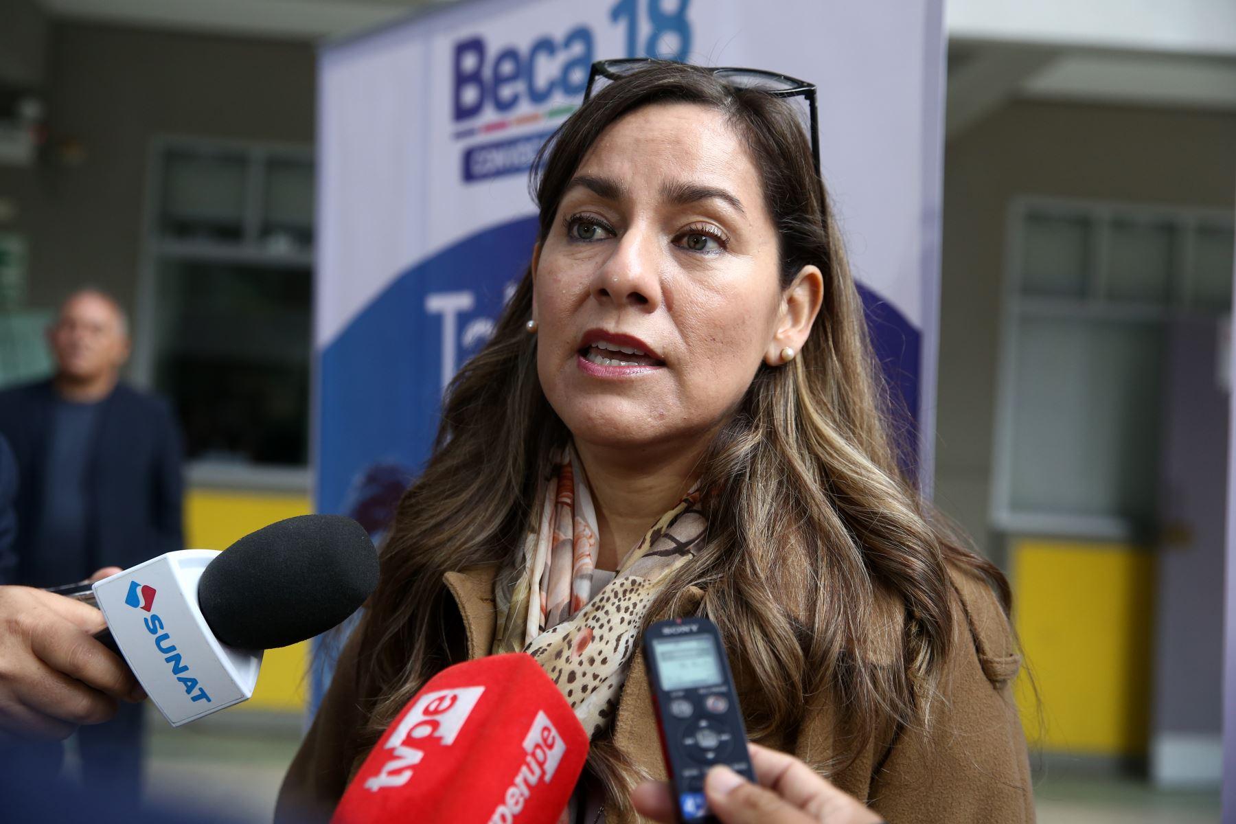 Jefa de la Sunat, Claudia Suárez. ANDINA/Vidal Tarqui