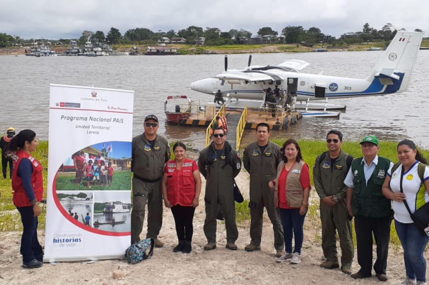 Alrededor de 500 familias de comunidades asentadas en la cuenca del río Putumayo (Loreto) y en zona de frontera con Colombia se beneficiarán con campaña del Programa Nacional PAIS.