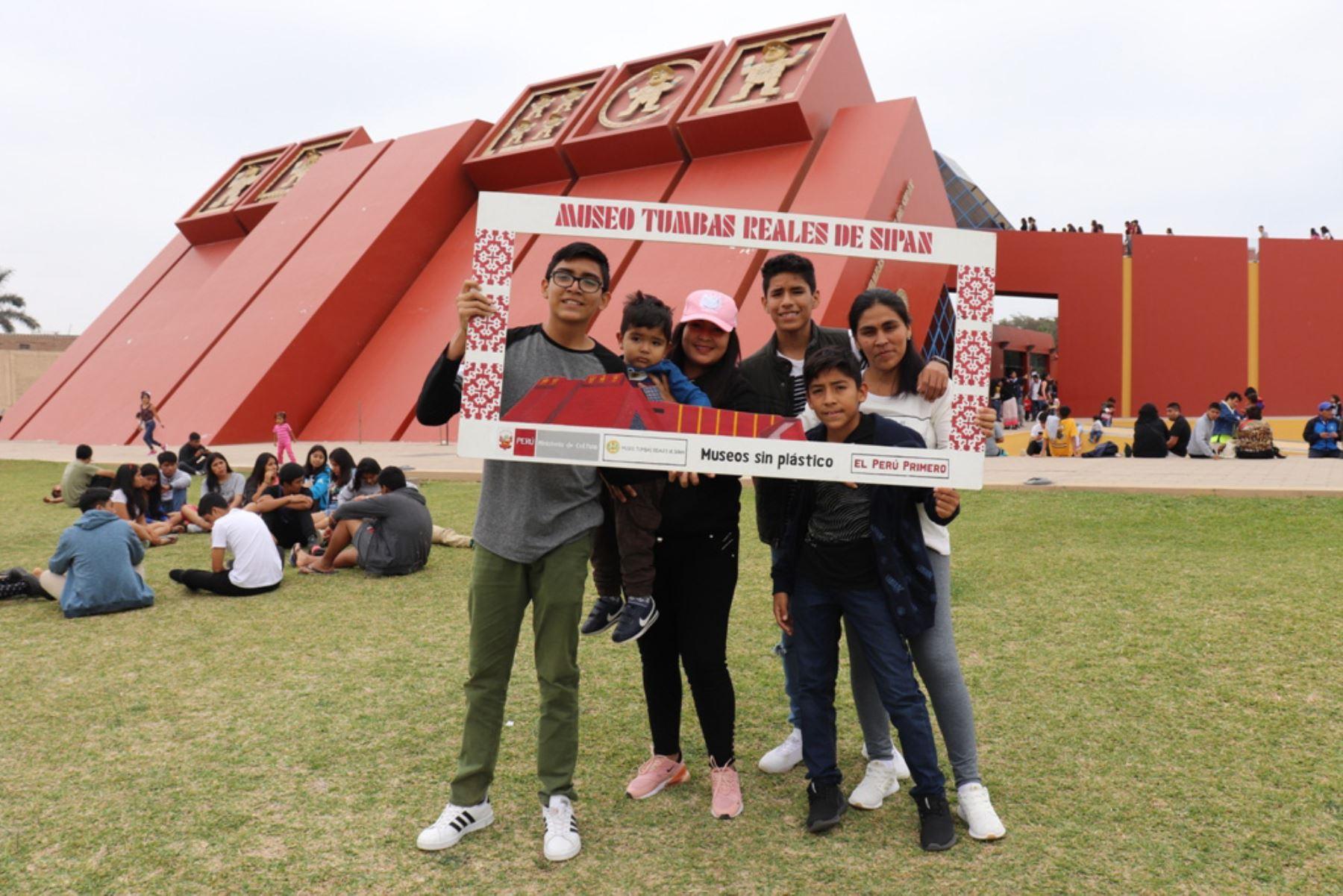 El Museo Tumbas Reales de Sipán recibió 3,581 personas el domingo último, gracias a la iniciativa Museos Abiertos del Ministerio de Cultura.