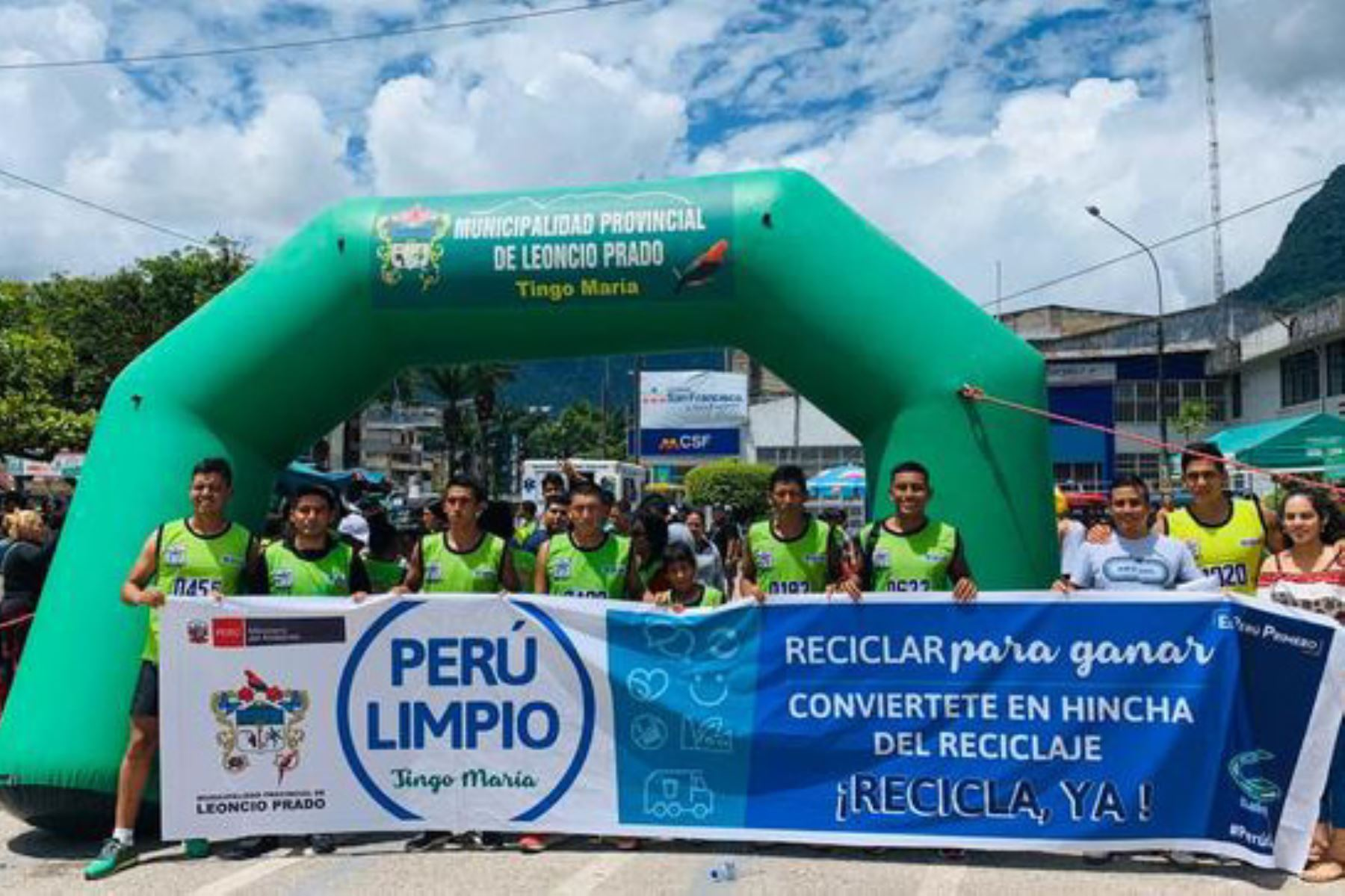 Durante la I Gran Maratón 21K y 10K por las Rutas del Café y Cacao, en la ciudad de Tingo María, se promovió el reciclaje.