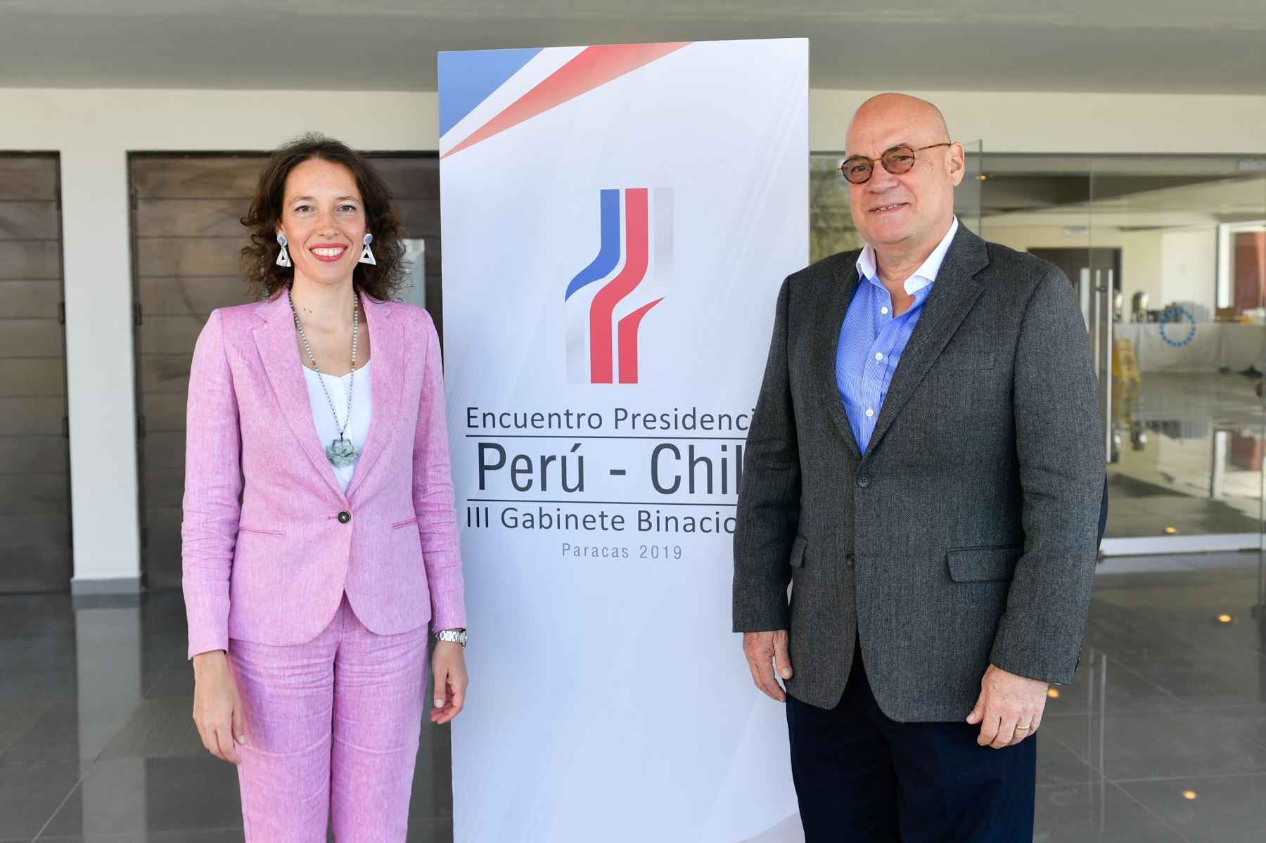 Vicecanciller Jaime Pomareda sostuvo reunión de trabajo con su par de Chile  Carolina Valdivia en el marco de la preparacion del   Encuentro Presidencial y III gabinete Binacional Perú -Chile, en Paracas. Foto: ANDINA/MRE