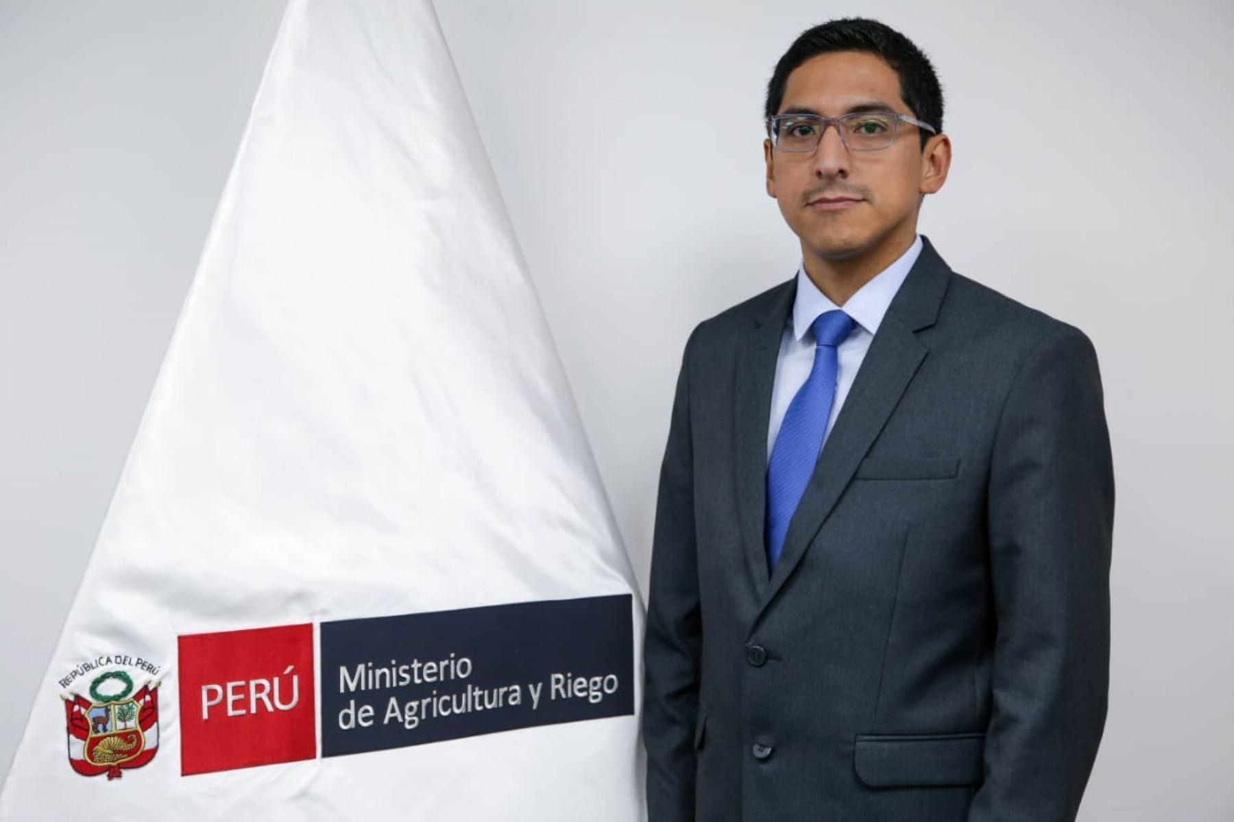 Viceministro de Desarrollo e Infraestructura Agraria y Riego, Carlos Alberto Ynga La Plata.