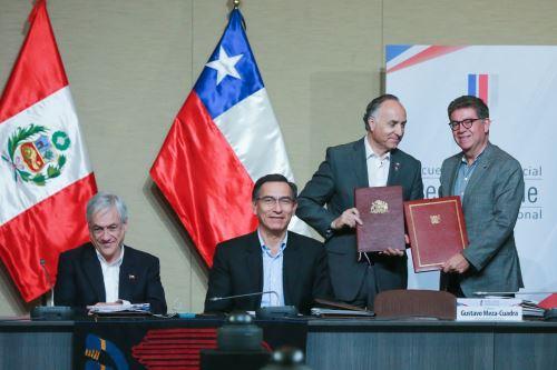 Suscripción de Instrumentos bilaterales entre Perú y Chile al finalizar III Gabinete BInacional