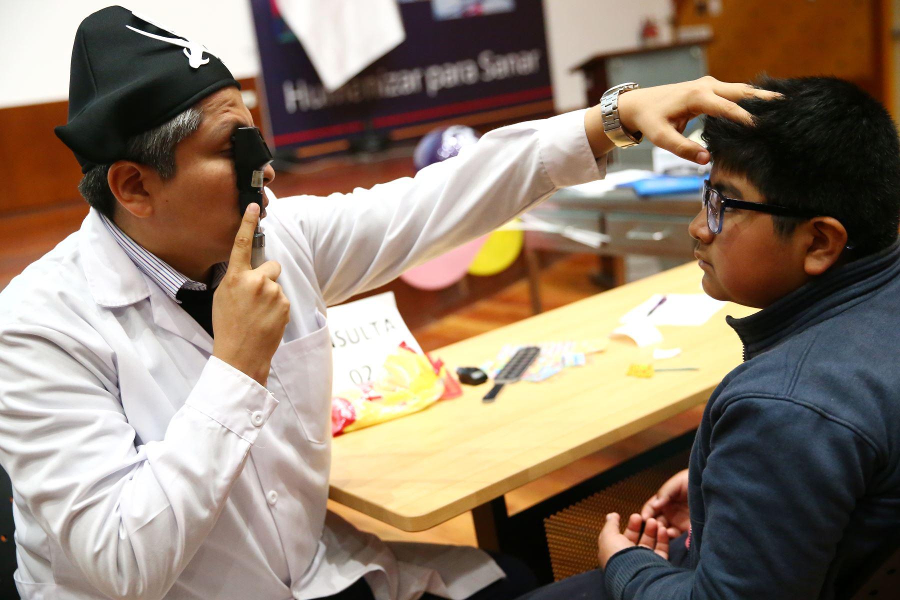 Instituto de Salud del Niño San Borja realiza campaña oftalmológica. Foto: ANDINA/Melina Mejía