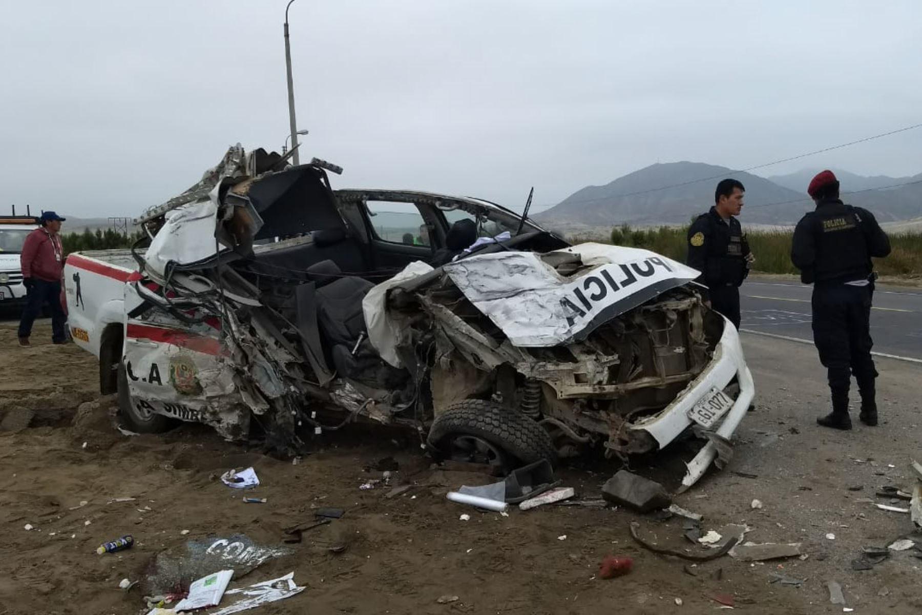 El suboficial de tercera de la PNP Camilo Montañez Ulloa falleció en el choque que protagonizó un bus interprovincial y un patrullero. Foto: ANDINA/Gonzalo Horna