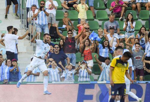 Argentina goleó 6 a 1 a Ecuador en amistoso