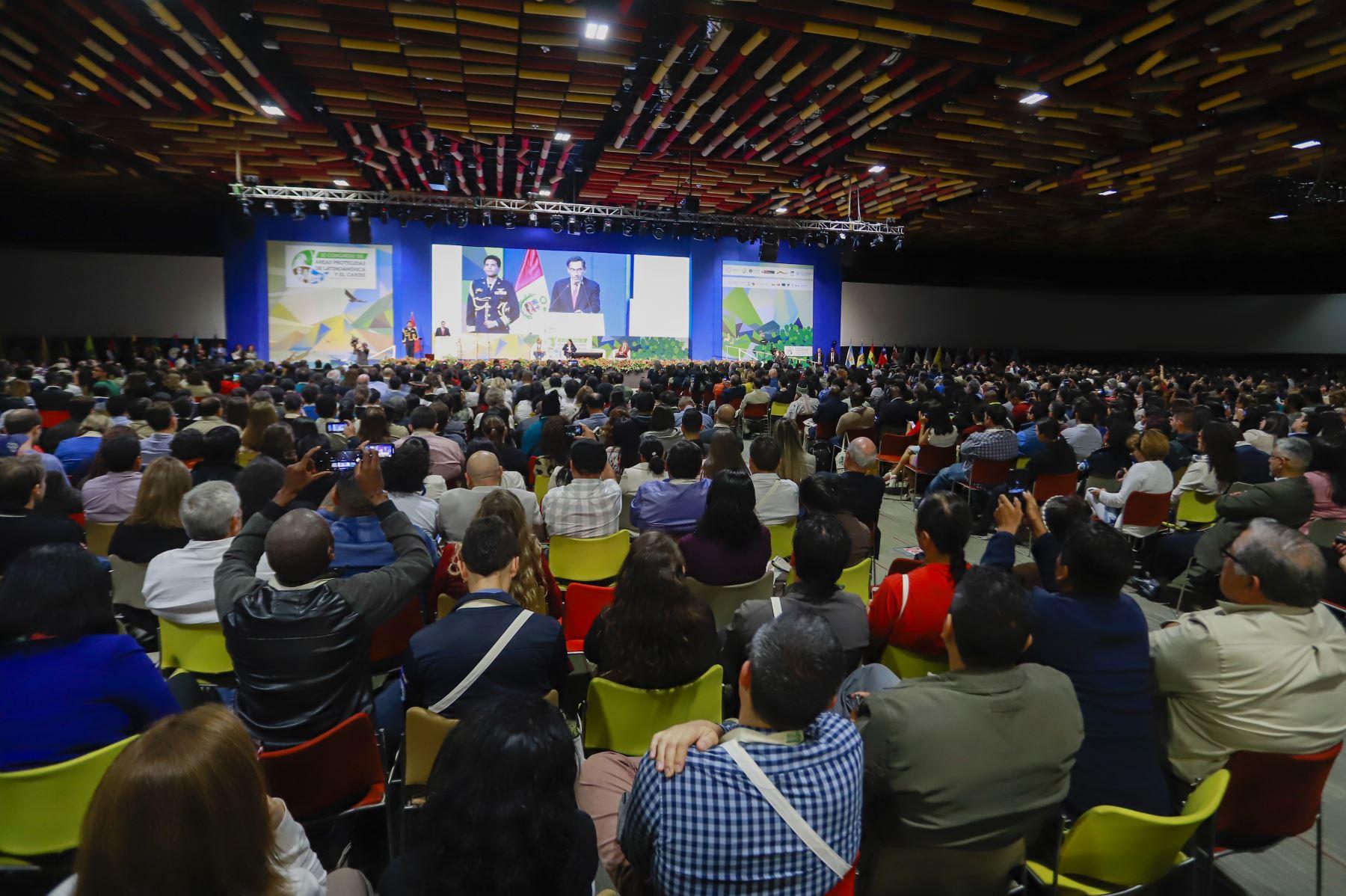 Jefe del Estado, Martín Vizcarra, inaugura III Congreso de Áreas Protegidas de Latinoamérica y el CaribeFoto: ANDINA/Prensa Presidencia