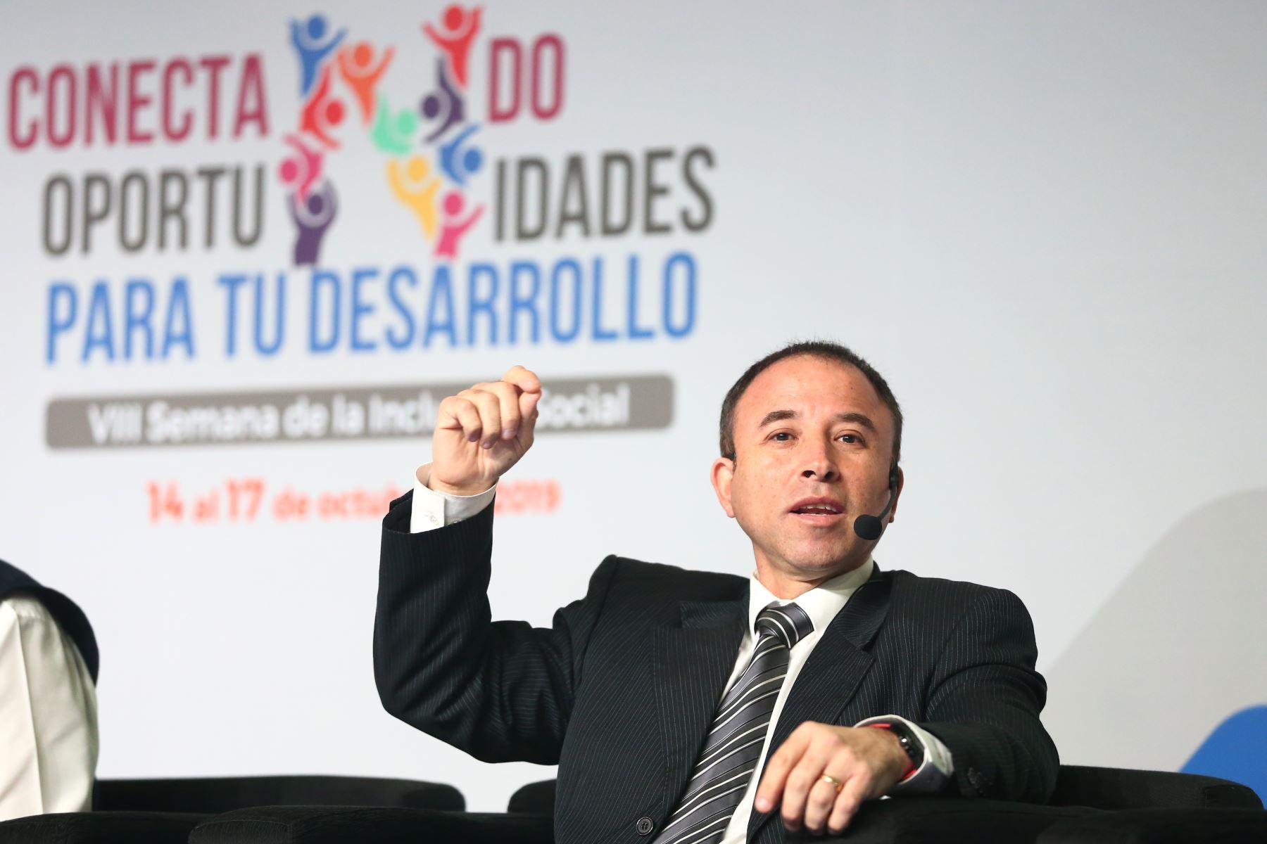 David Ramos, viceministro de Vivienda y urbanismo participa    en la VIII Semana de la Inclusión Social. Foto: ANDINA/Melina Mejía