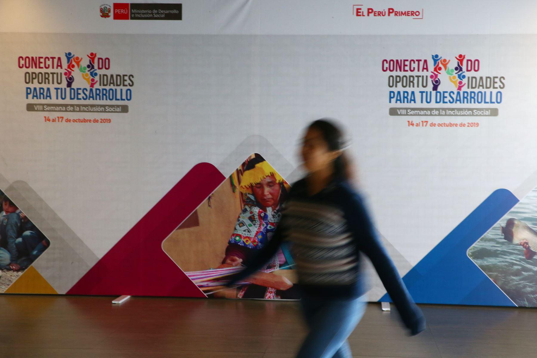 VIII Semana de la Inclusión Social. Foto: ANDINA/Melina Mejía