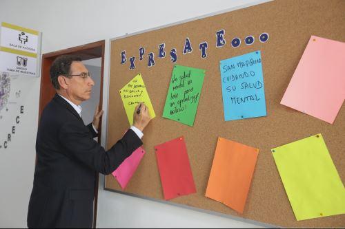 Presidente Vizcarra participa en inauguración de Centro de Salud Mental Universitario