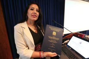 A la Dra. Roxana Quispe le tomó siete años de trabajo la investigación. ANDINA/Héctor Vinces