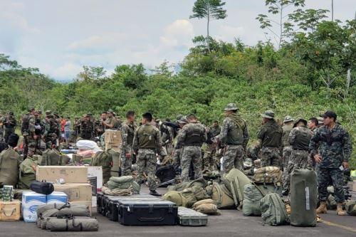 Fuerzas del orden ejecutan operativo contra la minería ilegal en distrito de El Cenepa, región Amazonas. ANDINA/Difusión