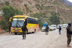Fuerzas del orden desbloquean de manera pacífica el corredor minero vial sur, en el tramo que comprende la provincia de Chumbivilcas, en Cusco. Foto: ANDINA/difusión.