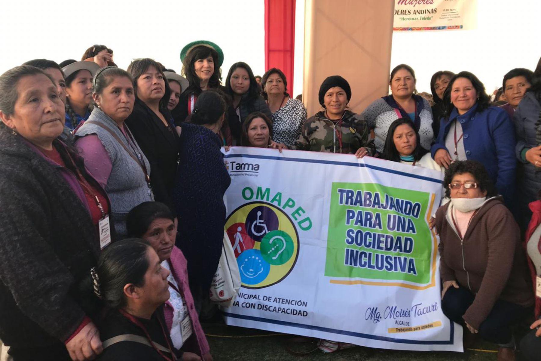 Poder Judicial promueve el empoderamiento de las mujeres líderes de la región Junín. ANDINA/Difusión