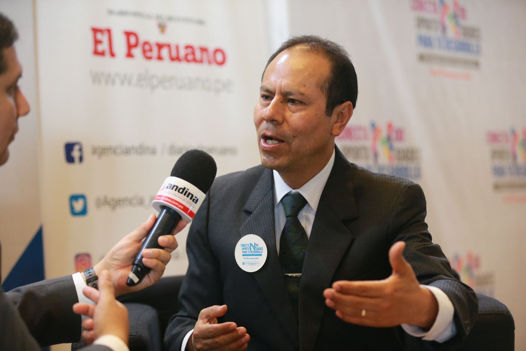Wilber Venegas Torres,Director Ejecutivo de Foncodes.Foto:ANDINA/ Jhony Laurente