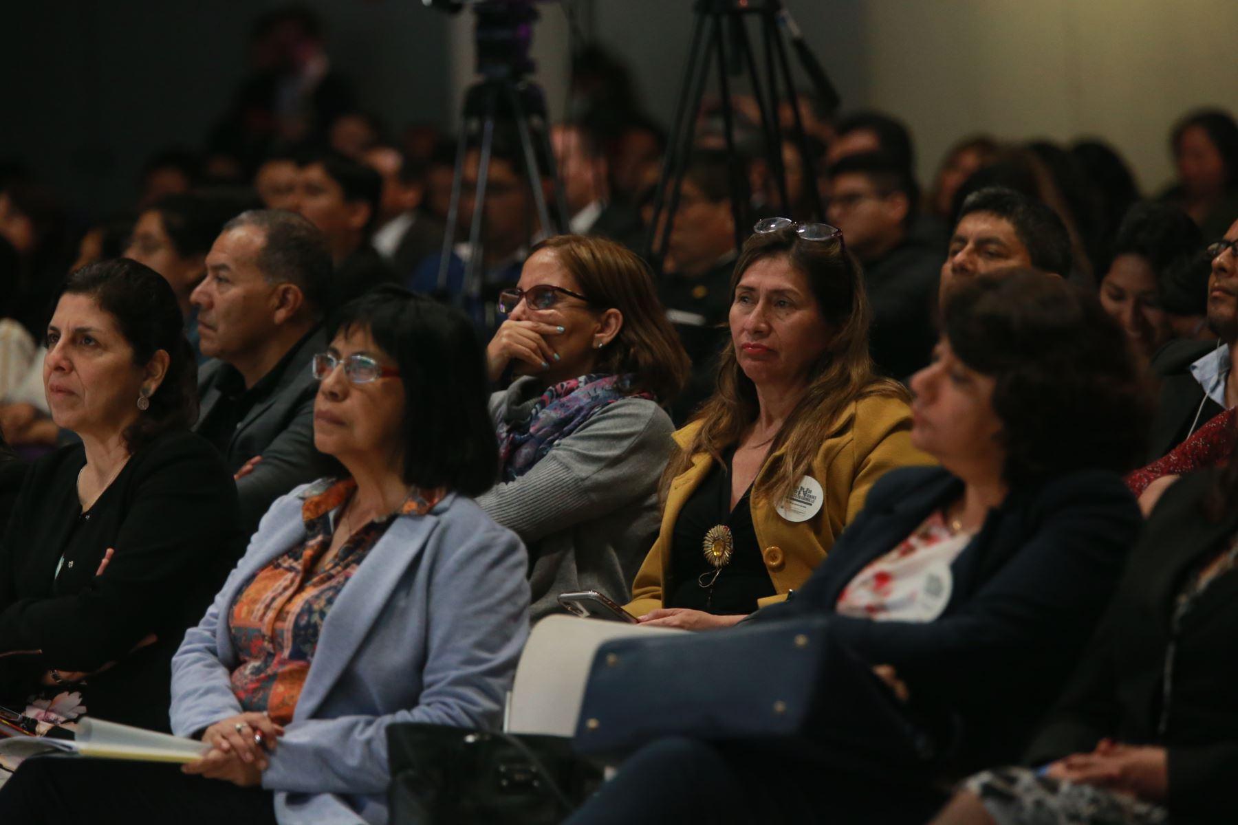 Asistentes a la VIII Semana de la Inclusión Social.Foto:ANDINA/ Jhony Laurente