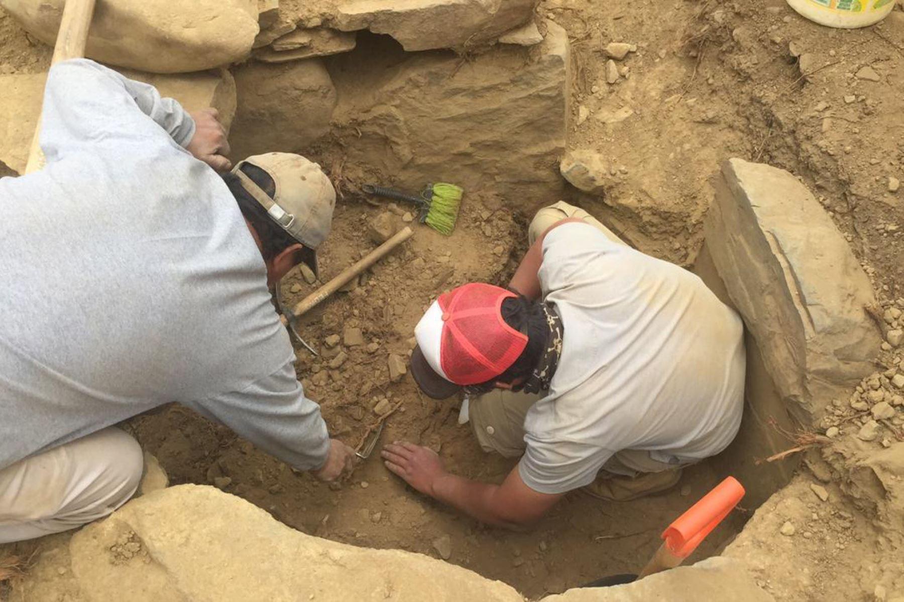 Resaltan aporte de comunidades de distrito de Cátac, en Áncash, en el rescate de vestigios arqueológicos de la cultura Recuay Foto: Proyecto de Investigación Arqueológica Cruz Punta