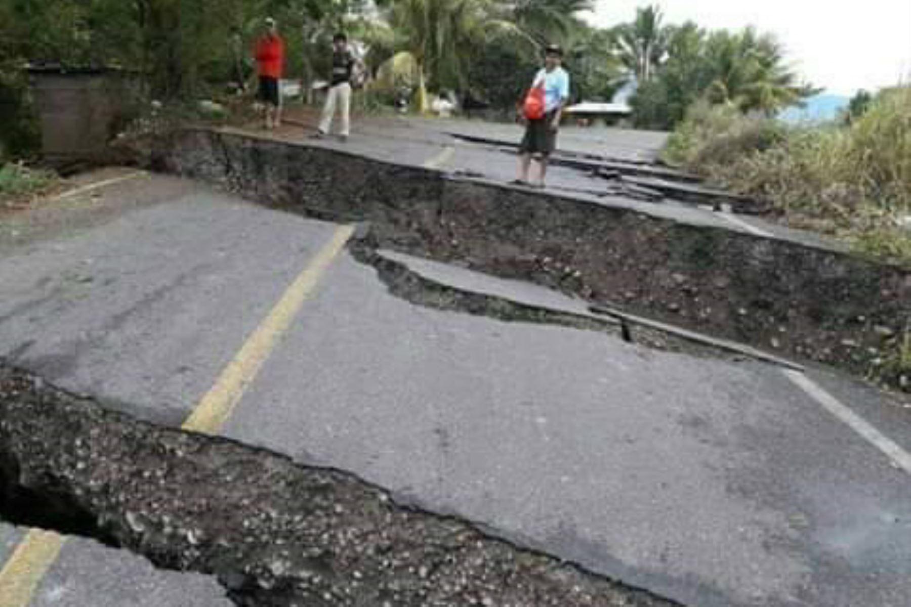 Indeci confirma daños materiales por deslizamiento en distrito de Cajaruro, en Amazonas. ANDINA/Difusión