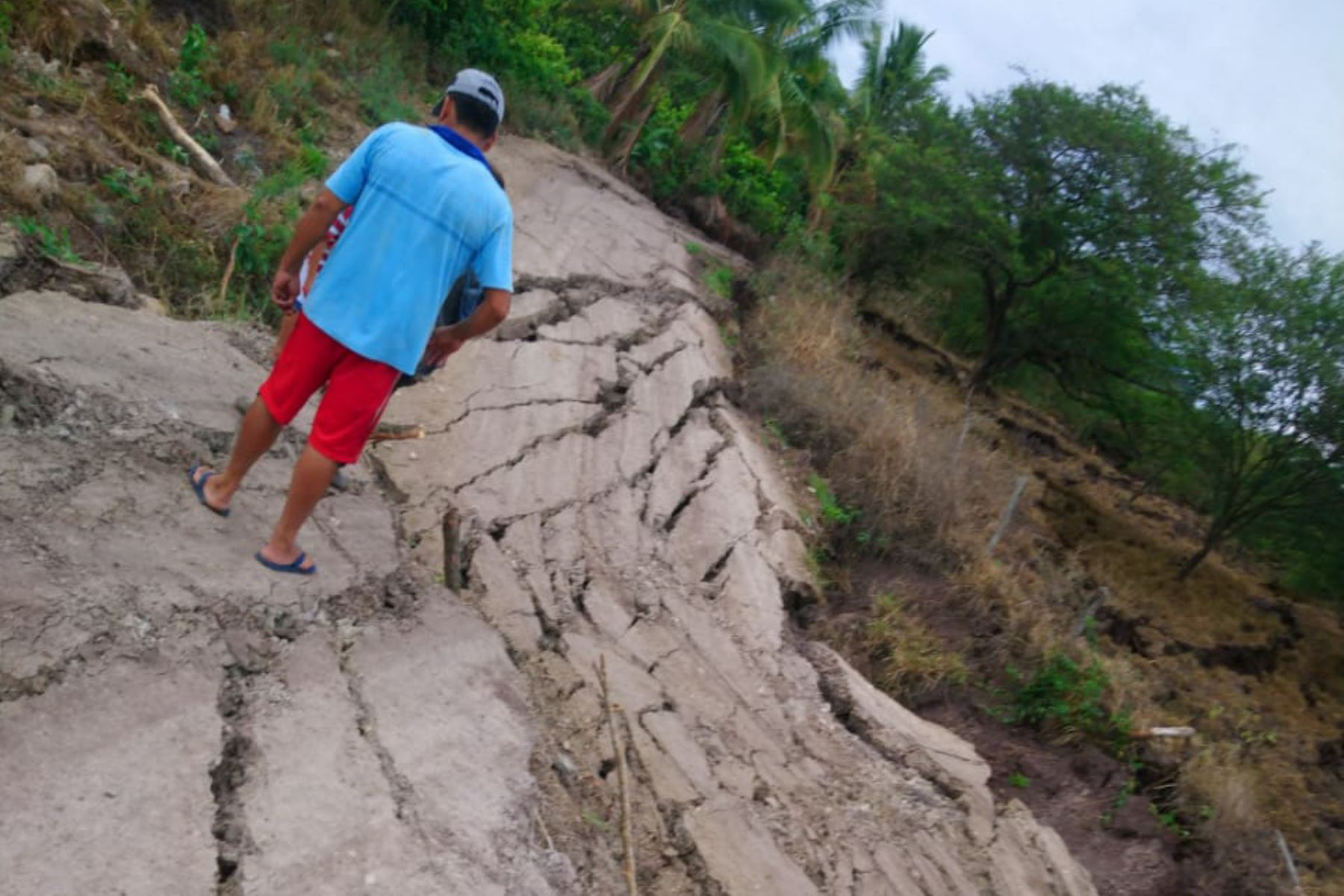 Brigada de Ingemmet viaja a la zona afectada por posible deslizamiento en provincia de Utcubamba, en Amazonas. ANDINA/Difusión