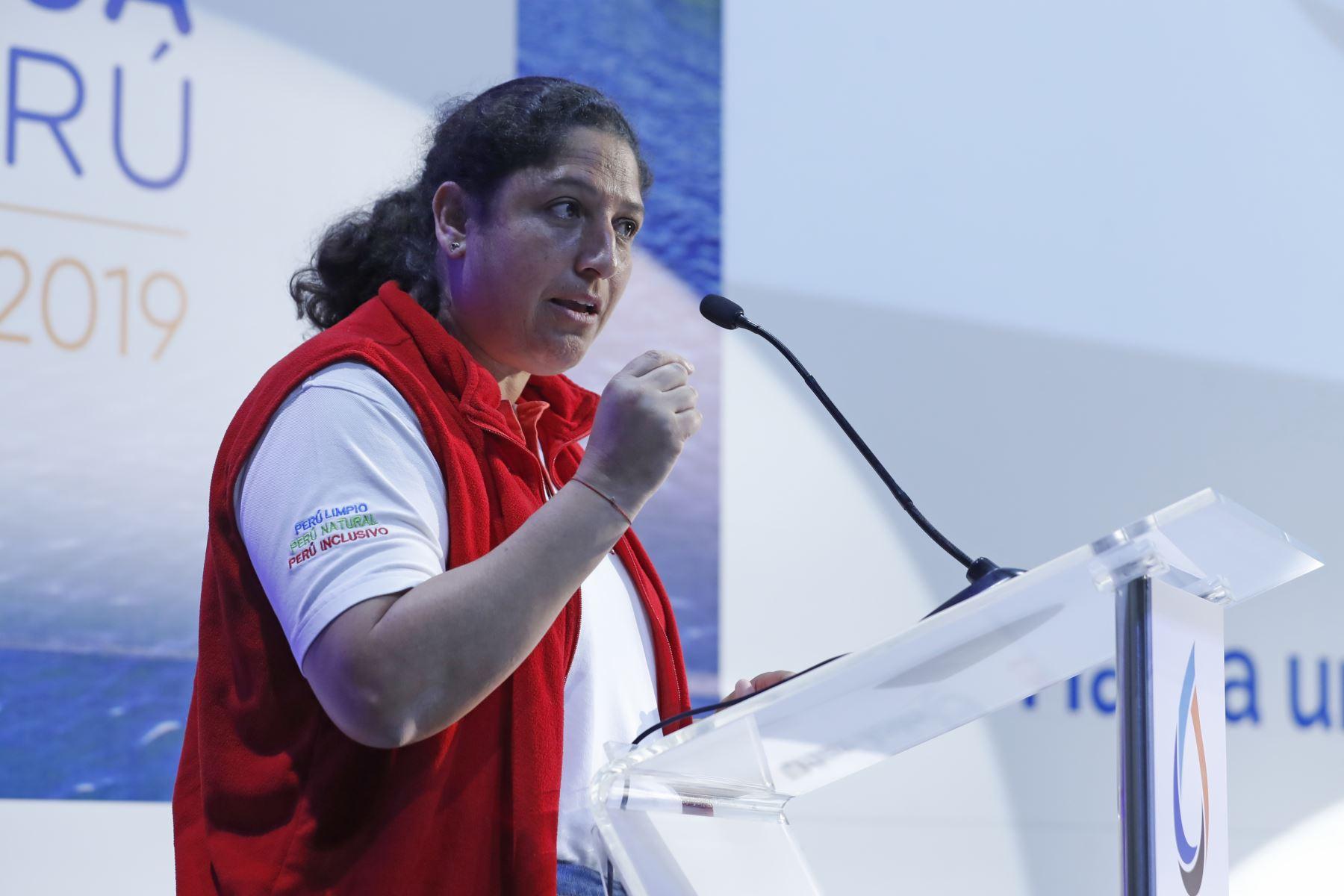 Ministra del Ambiente, Fabiola Muñoz.Foto:  ANDINA/Renato Pajuelo