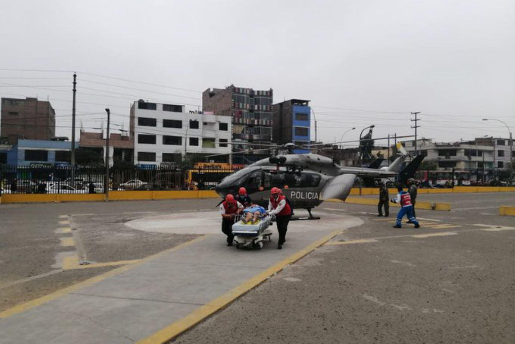 Dos escolares heridos de gravedad en la provincia limeña de Huarochirí recibirán atención especializada en el hospital Hipólito Unanue.
