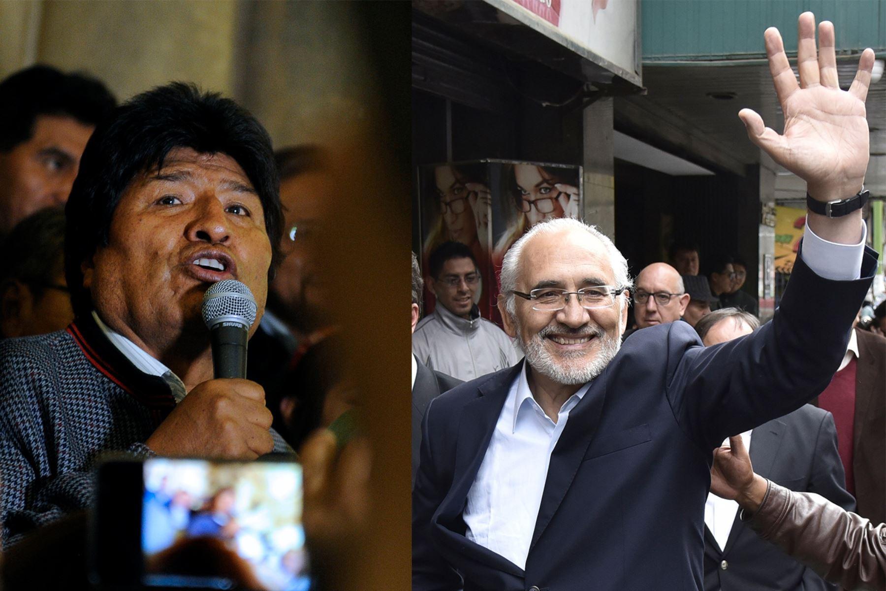 Evo Morales y Carlos Mesa irían a una segunda vuelta electoral en Bolivia