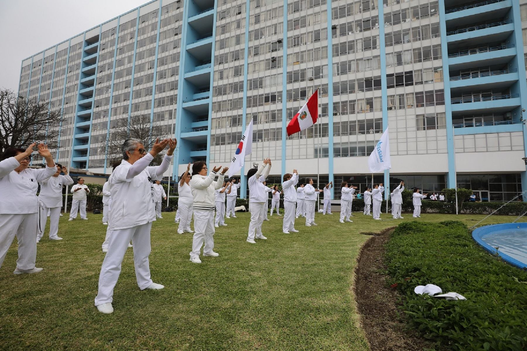 EsSalud: 300 promotores de salud realizan demostración de Taichí en Hospital Rebagliati Foto: Difusión