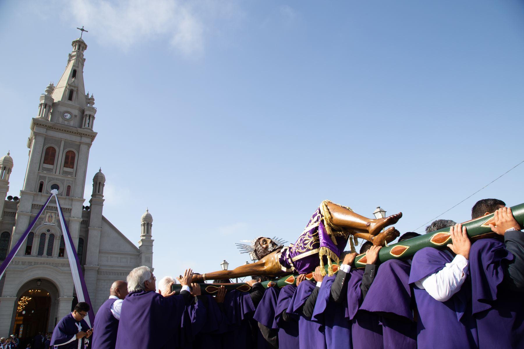 Ica celebra la tradicional procesión de su patrón el Señor de Luren. Foto: Genry Emerson Bautista